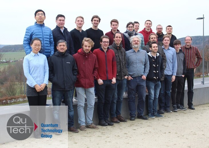 Group picture of the Quantum Technology Group in Dec 2018